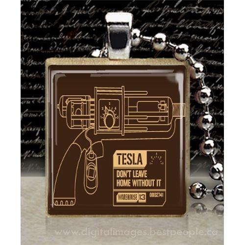 Pin Auf Wrapahouse: Warehouse 13 Tesla Tile Pendant Necklace