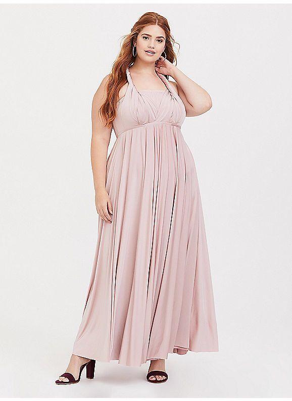 59ea7026056 TORRID   Special Occasion Pink Studio Knit Convertible Maxi Dress ...