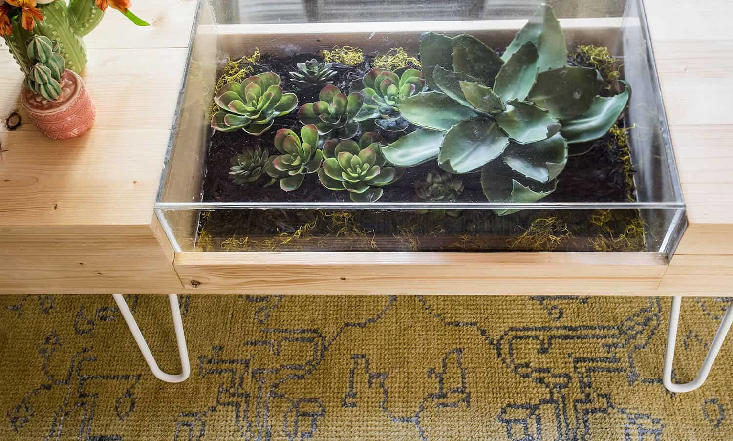 - DIY Terrarium Coffee Table Diy Beistelltisch, Terrarium Ideen