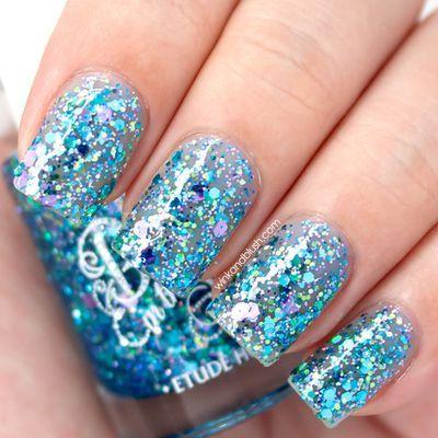 aqua blue glitter nail polish   nail art*   Pinterest   NAILS ...
