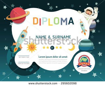stock-vector-certificate-kids-diploma-kindergarten-template-layout - certificate layout