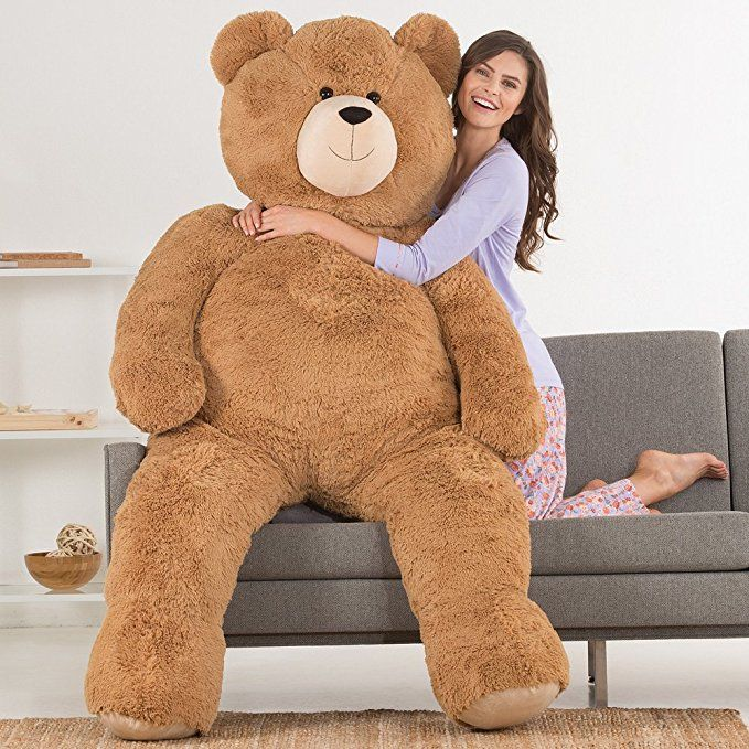 Vermont Teddy Bear Huge Love Bear, 6 Feet Tall, Brown(画像