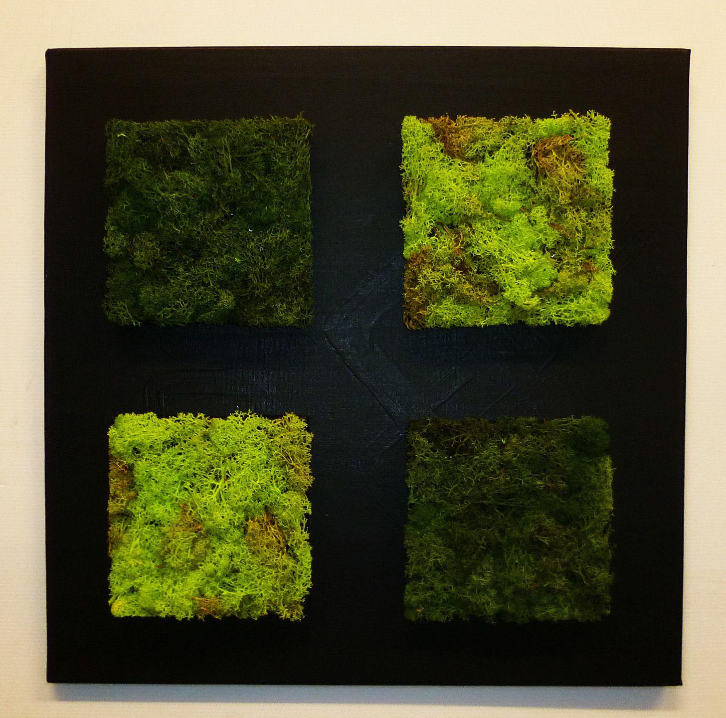 tableau v g tal stabilis 50 x 50 cm lichen bicolore 013 d corations murales par caly design. Black Bedroom Furniture Sets. Home Design Ideas