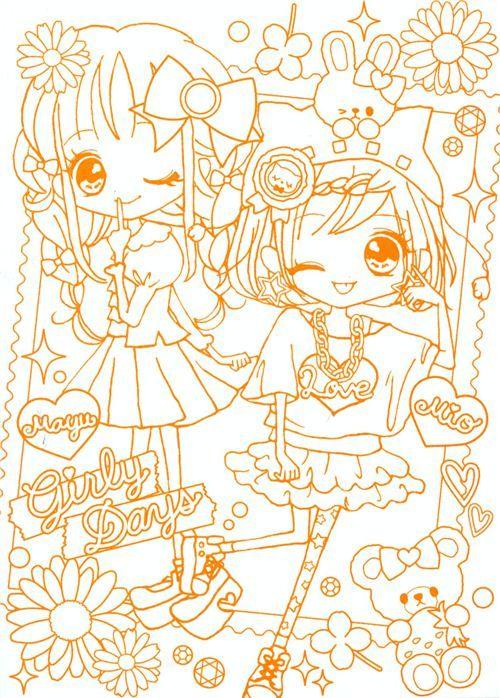 süße kawaii Anime Mädchen Notizbuch Malbuch Q-Lia Japan | Kawaii ...