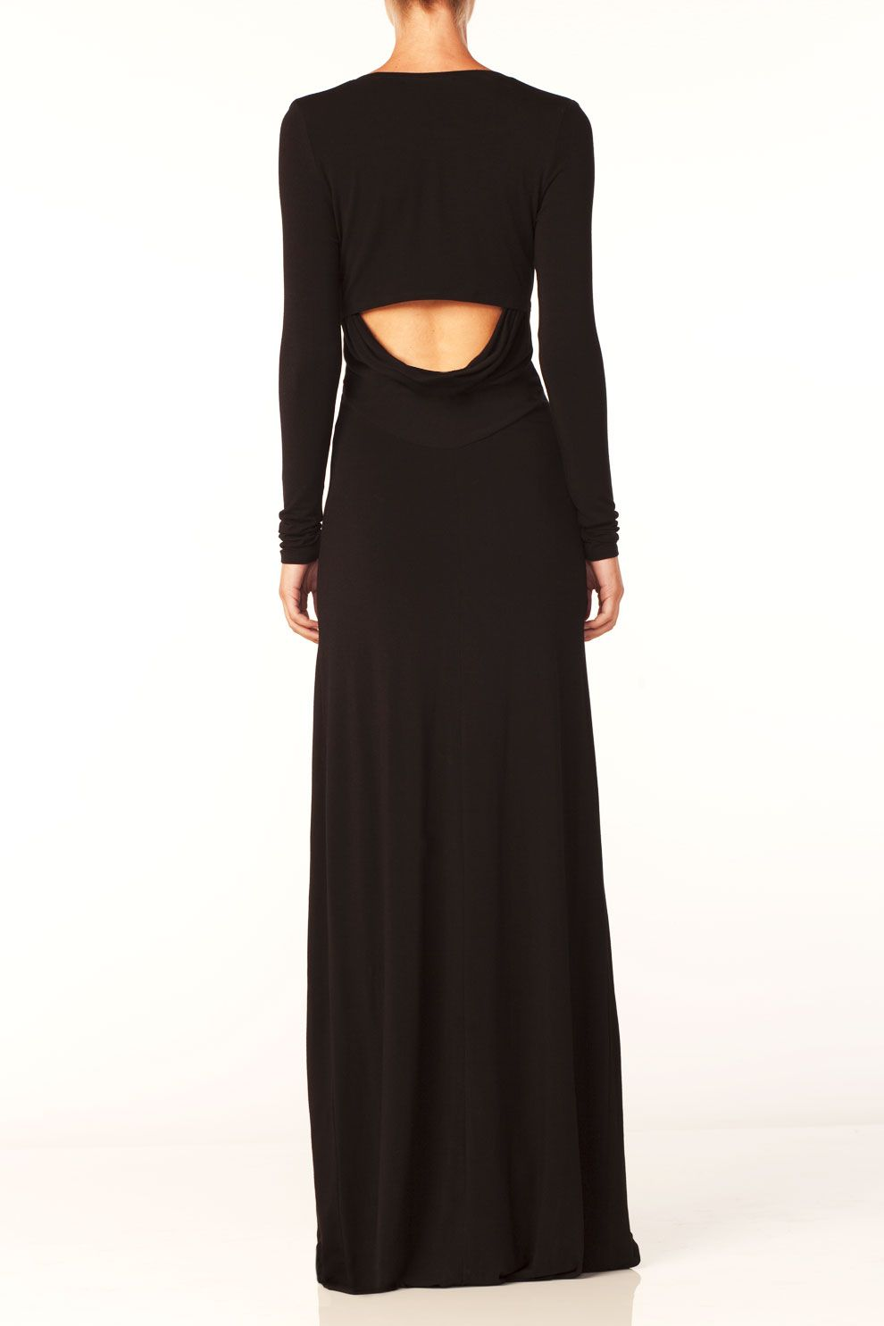 Bella luxx long sleeve slit maxi dress inspiration in dress