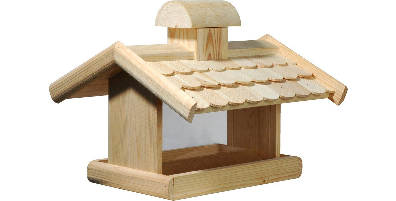 Dobar Vogelhaus Mit Futter Silo 38 X 38 X 30 Cm Kormushki I