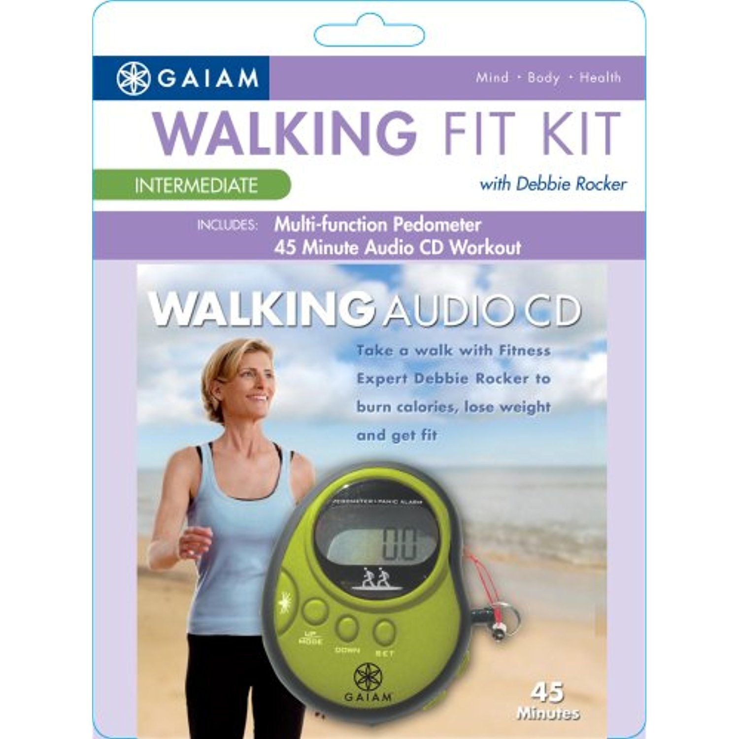 Gaiam Pedometer Plus Audio CD (Intermediate Level) *** Be sure to check out this awesome product. (This is an affiliate link) #FitnessActivityMonitors