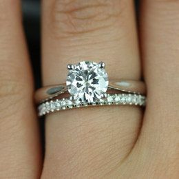 Tapered Engagement Ring With Wedding Band Google Search