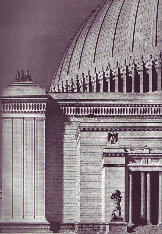 welthauptstadt germania volkshalle 1941 house pinterest roman empire. Black Bedroom Furniture Sets. Home Design Ideas