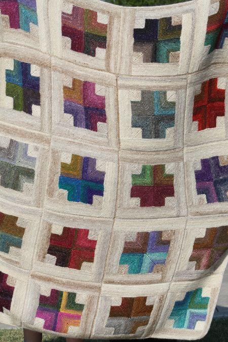 Mitered crosses quilt