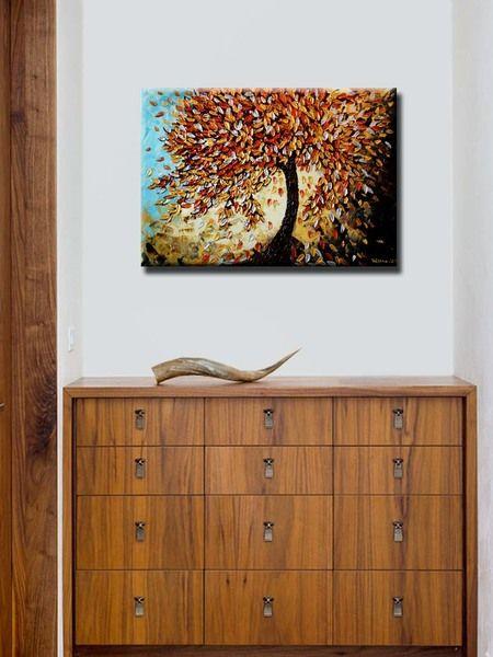 "Katinafineart. 50x70cm Acrylique ""Mettalic Tree"" de KatinaFineArt sur DaWanda.com"