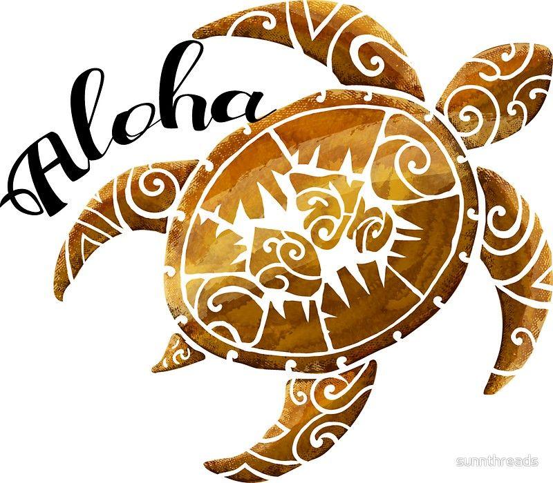 d2dd44971 Vintage Polynesian Aloha Turtle   Stickers   ART - Hawaii   Scarf ...