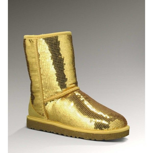 UGG Short Sparkles Classic 3161 Gold Boots