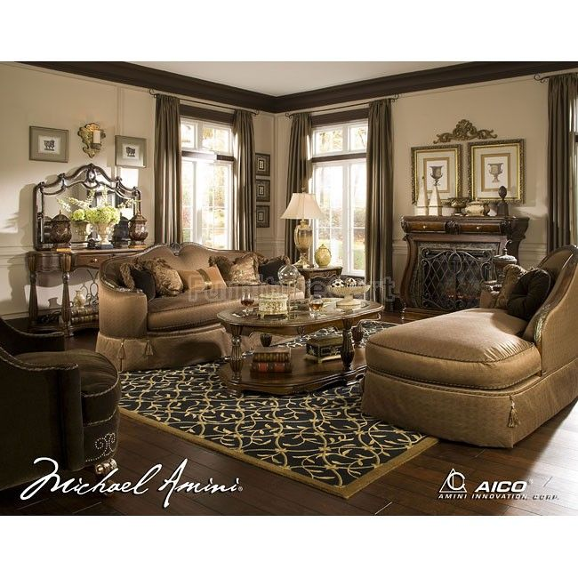 The Sovereign Living Room Set Aico Furniture 57 51 LR SET | Furniture