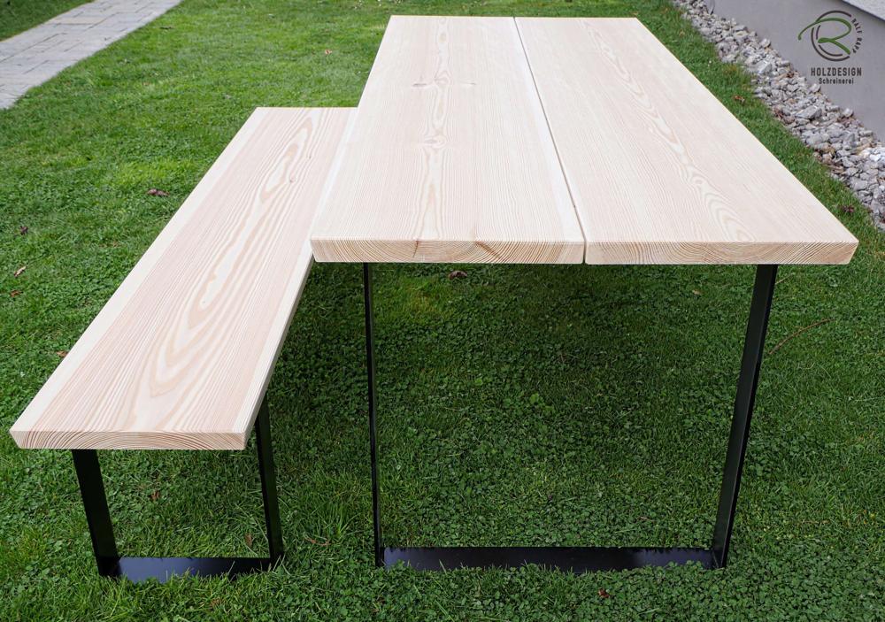 Baumtischplatte In Larche Massivholz Terrassen Tische Terrassentisch Larchenholz