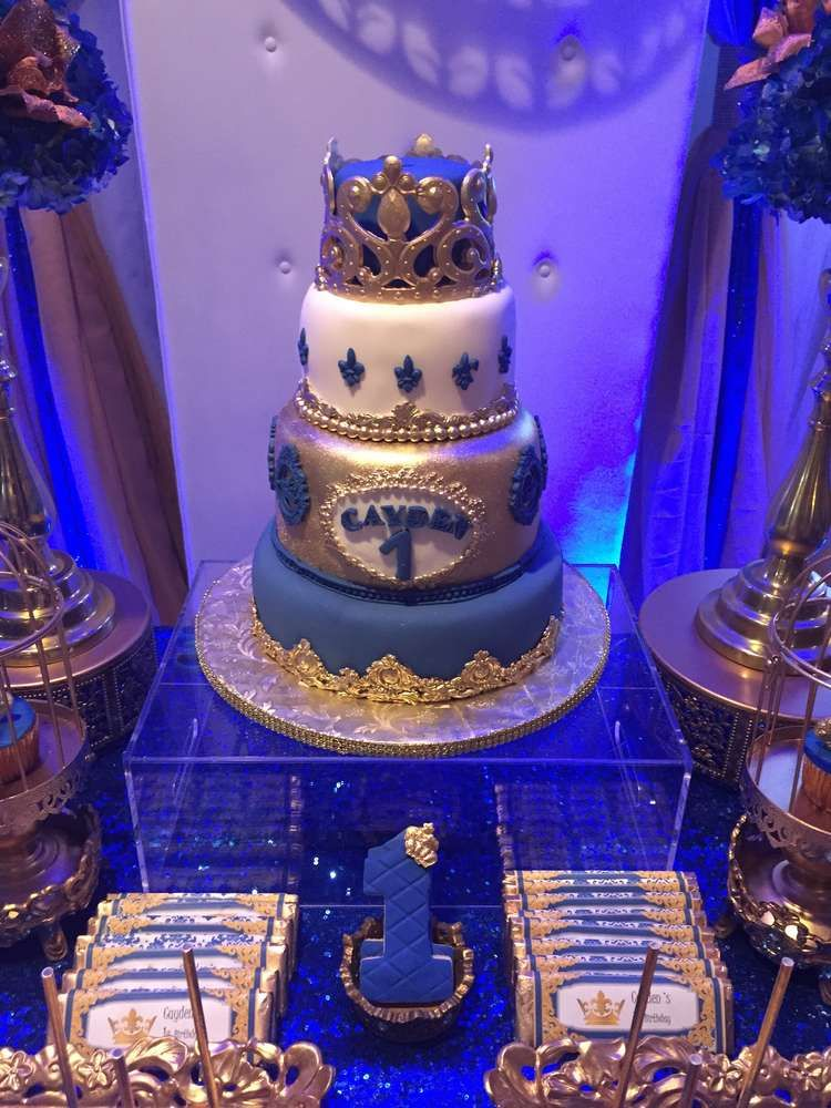 Gorgeous Cake At A Royal Prince Birthday Party See More