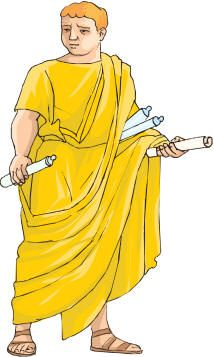 Roman clothing - outfit actually commonly worn by scribes or literate people.