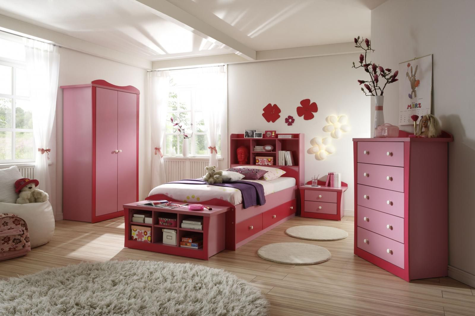 Girls Bedroom Designs Design Ideas For Contemporary White Girls Bedroom With Pink Wood