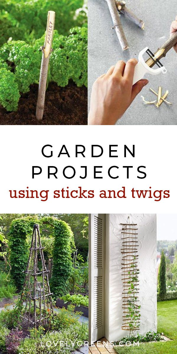 30+ Garden Projects using Sticks and Twigs is part of Garden projects, Diy garden projects, Garden features, Garden edging, Natural garden, Outdoor gardens - Creative garden features you can DIY for free using twigs, sticks, and branches  Ideas include trellises and plant supports as well as garden artwork