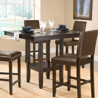 Hillsdale Furniture Arcadia Counter Height Dining Table  Walmart Custom Dining Room Tables Walmart Design Inspiration