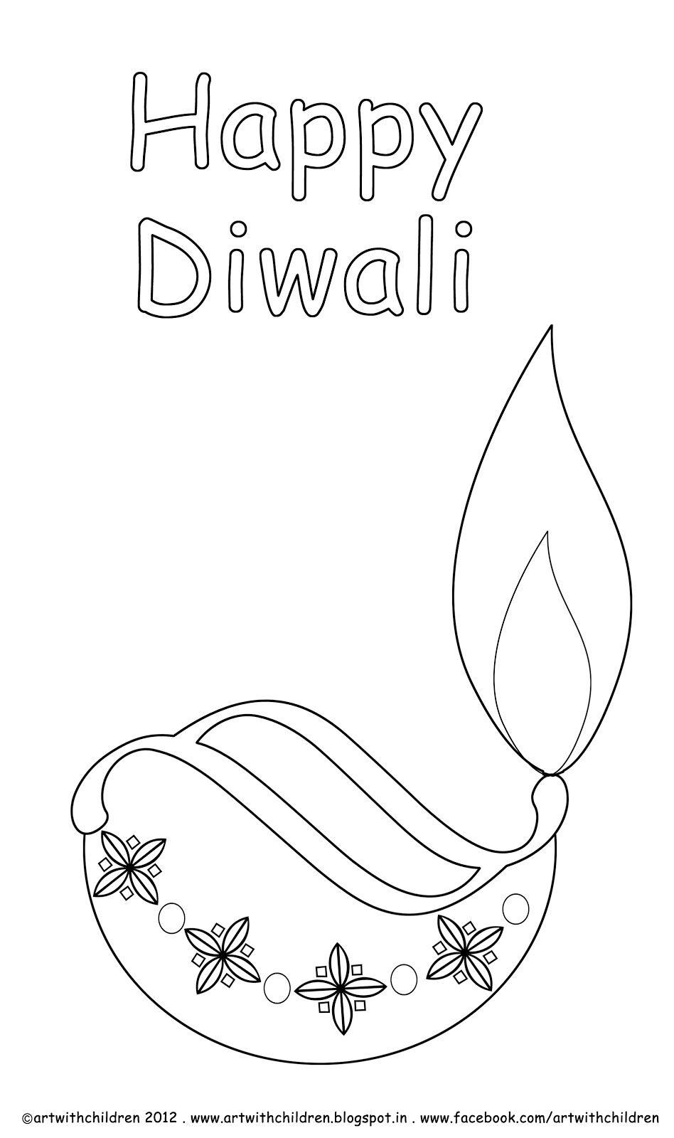 Diwali Diya Coloring Page Fall Coloring Pictures Family Picture Colors Coloring Pictures For Kids