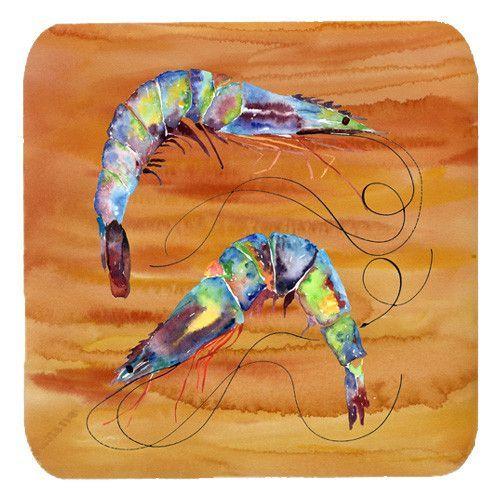 Set of 4 Shrimp Foam Coasters