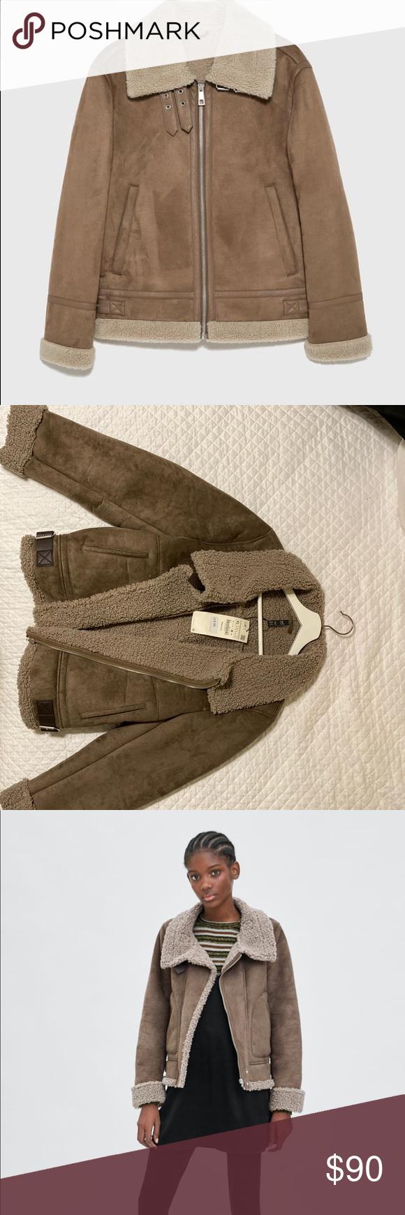 Zara women's shearling jacket in 2020 Shearling jacket