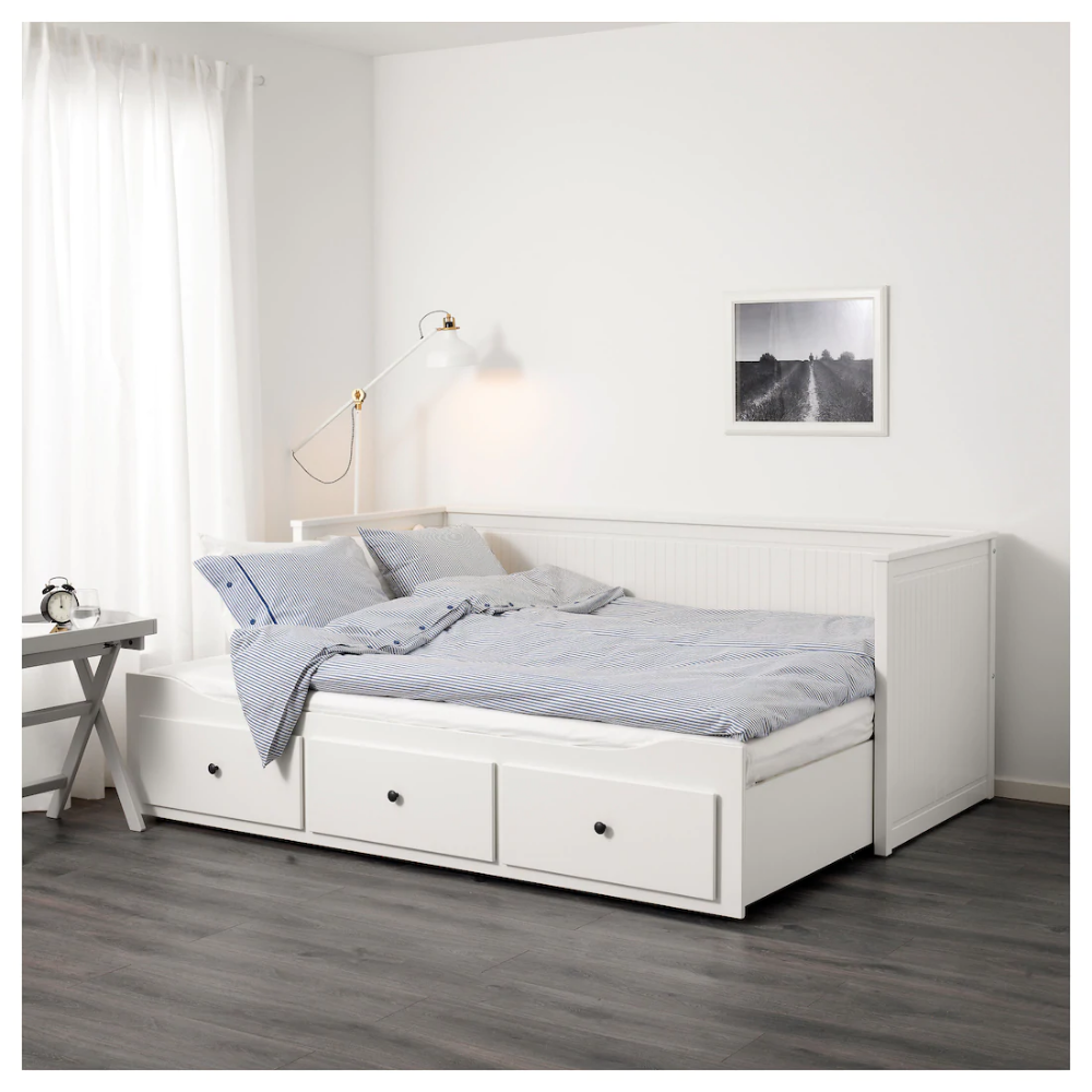 Hemnes Daybed With 3 Drawers 2 Mattresses White Meistervik Firm Ikea Day Bed Frame Hemnes Day Bed Ikea Hemnes Daybed