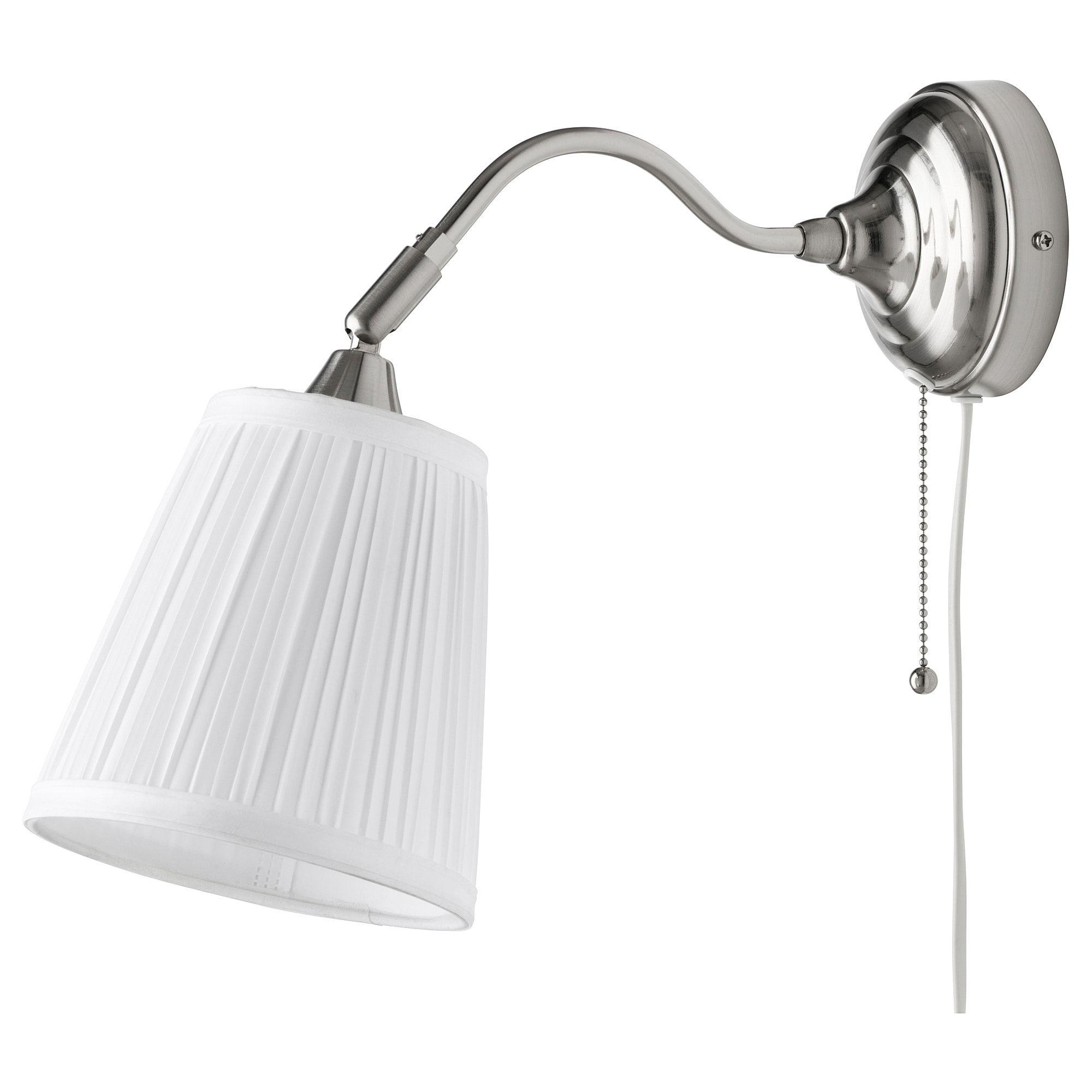 Creare Un Lampadario Di Stoffa Årstid lampada da parete - nichelato, bianco | lampade da