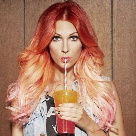 Beautiful red to pink ombre pink ombre hair ombre hair and ombre beautiful red to pink ombre solutioingenieria Gallery