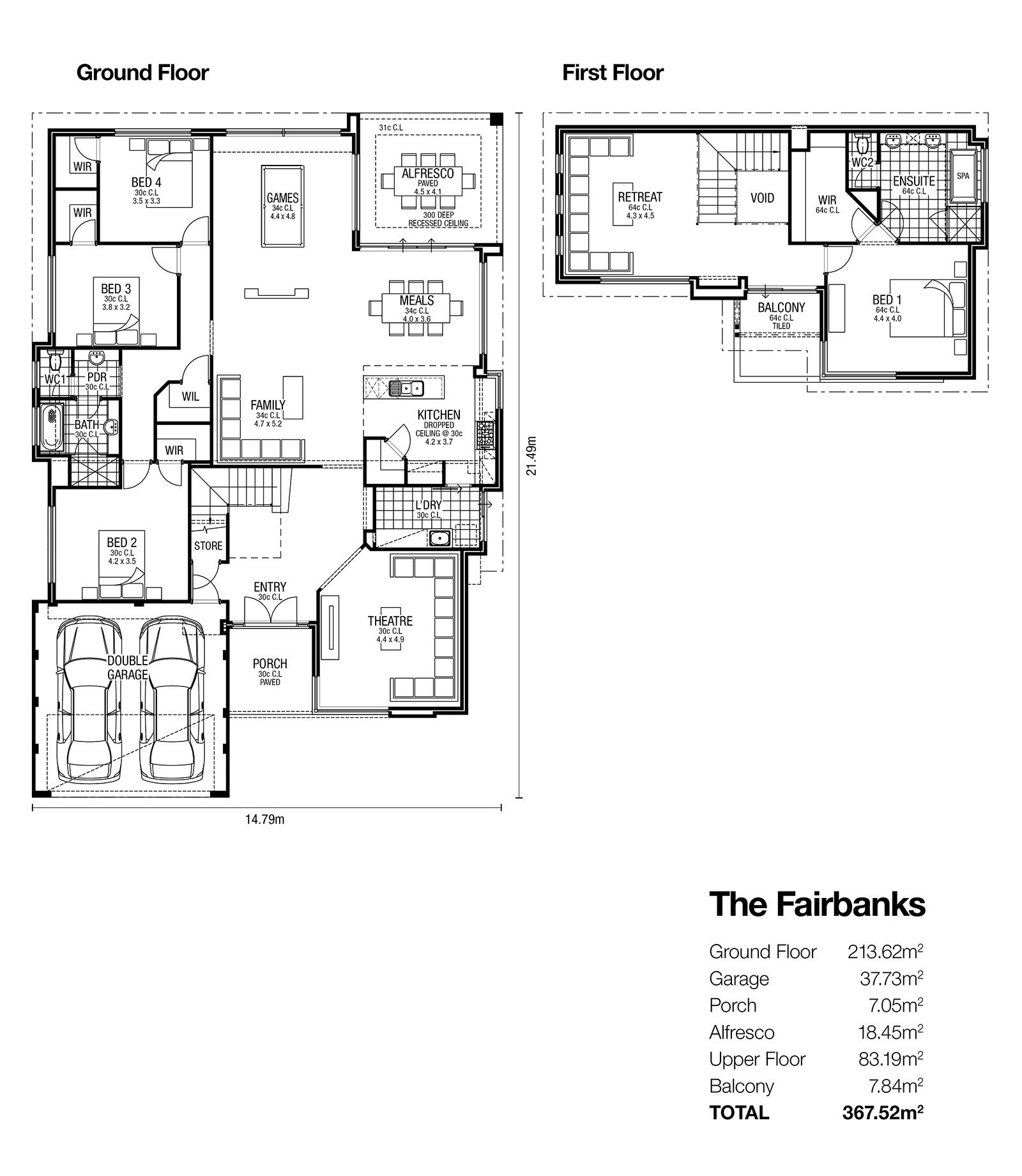 The Fairbanks Double Storey Designs House Floor Plans Floor Plans Next At Home