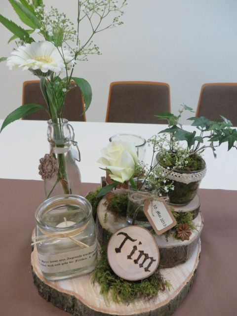 Tischdekoration Konfirmation Centerpieces Konfirmation