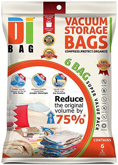 Dibag 6 Vacuum Storage Bags Platzsparer Vakuum Beutel 100 x 80 cm