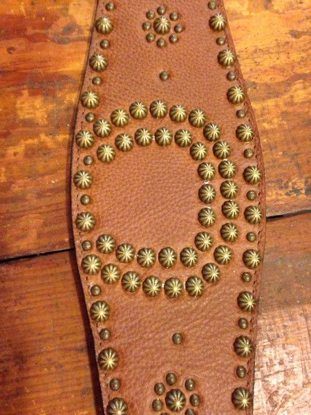 Double J Brown Studded Belt