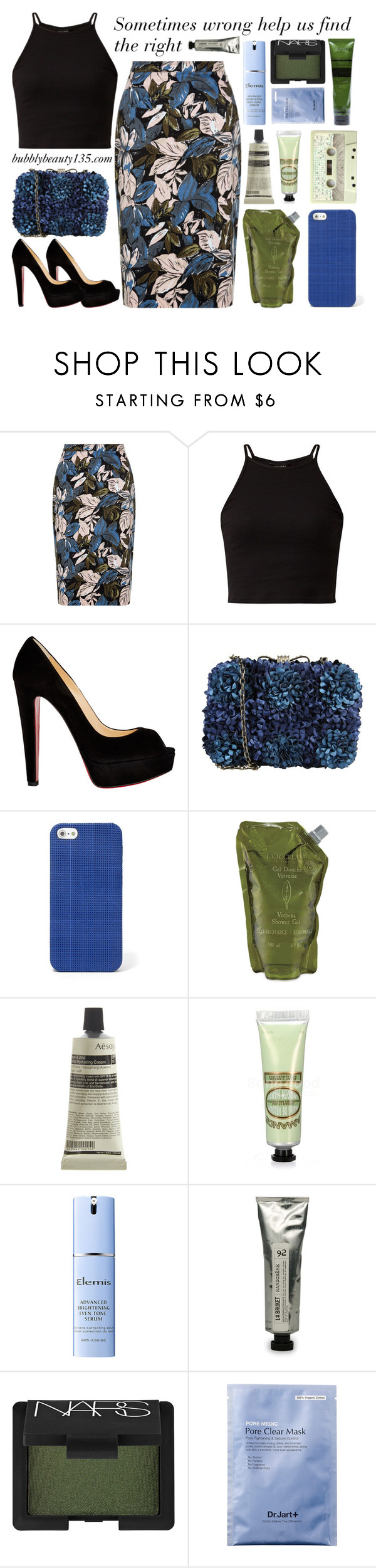"""""""From wrong to right"""" by bubblybeauty135 ❤ liked on Polyvore featuring Christian Louboutin, Darling, FOSSIL, L'Occitane, Aesop, Elemis, L:A Bruket and NARS Cosmetics"""