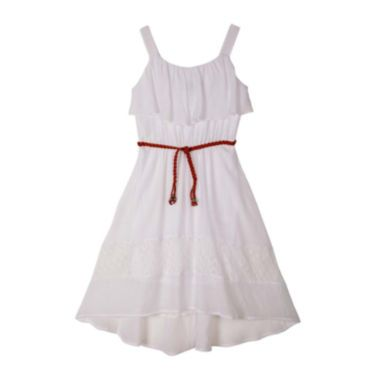 by&by Girl Sleeveless Lace Gauze Dress - Girls 7-16 found at ...