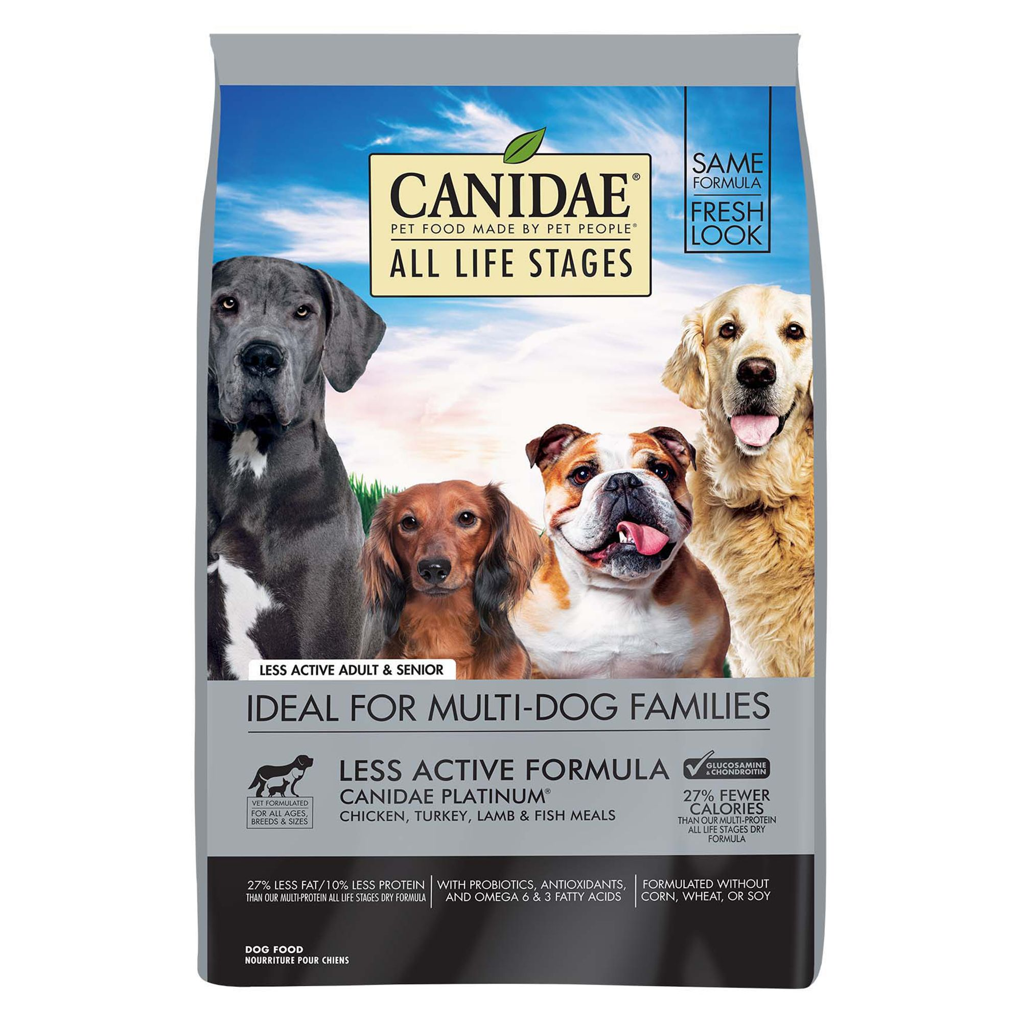 Canidae All Life Stages Platinum Less Active Dog Food Natural