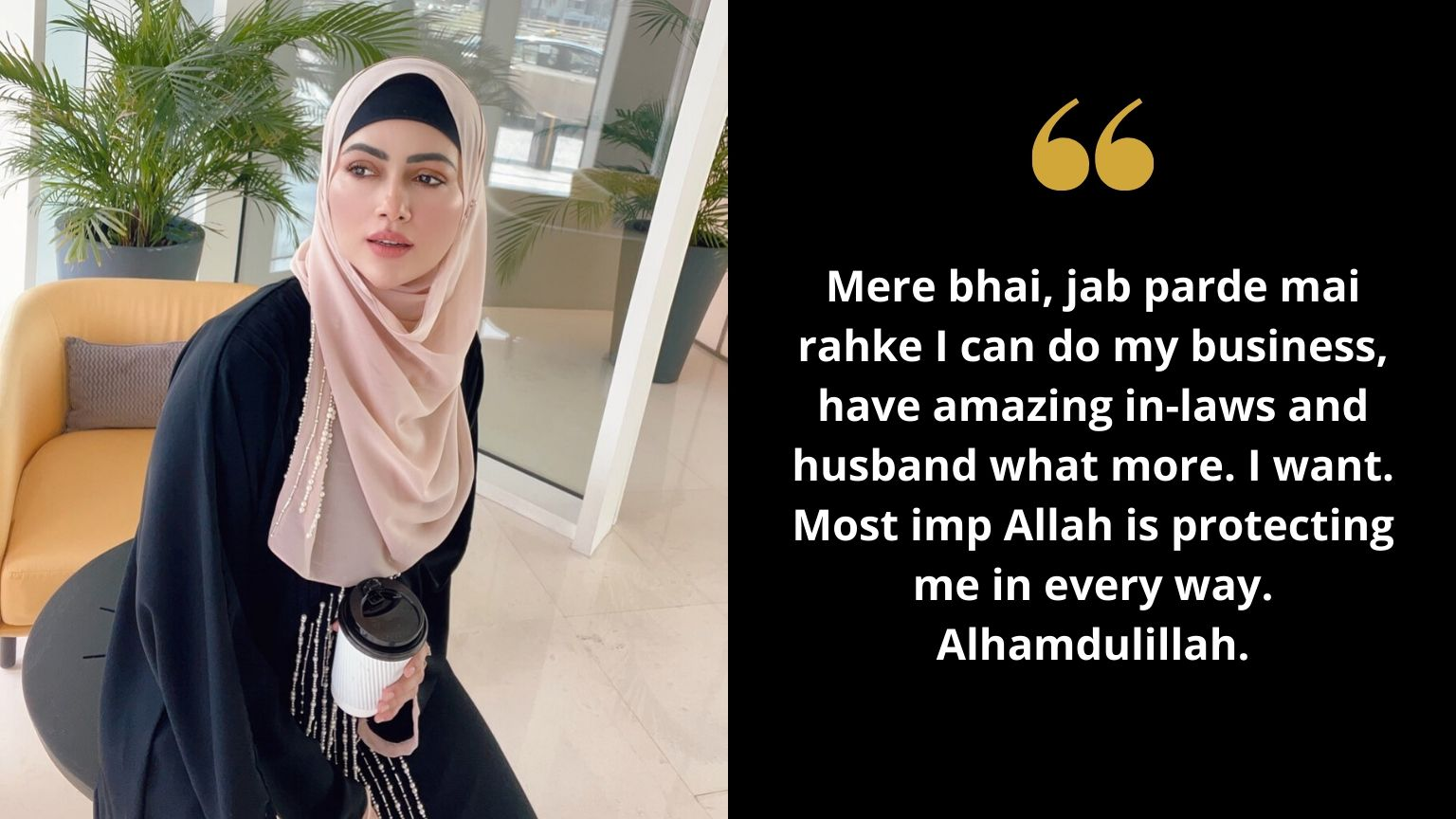 "Sana Khan befitting reply over wearing ""Hijab"" 🧕"