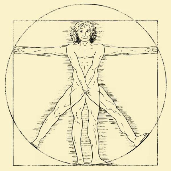 Vitruvian Man: Shy Vitruvian | Variations on Famous Artworks