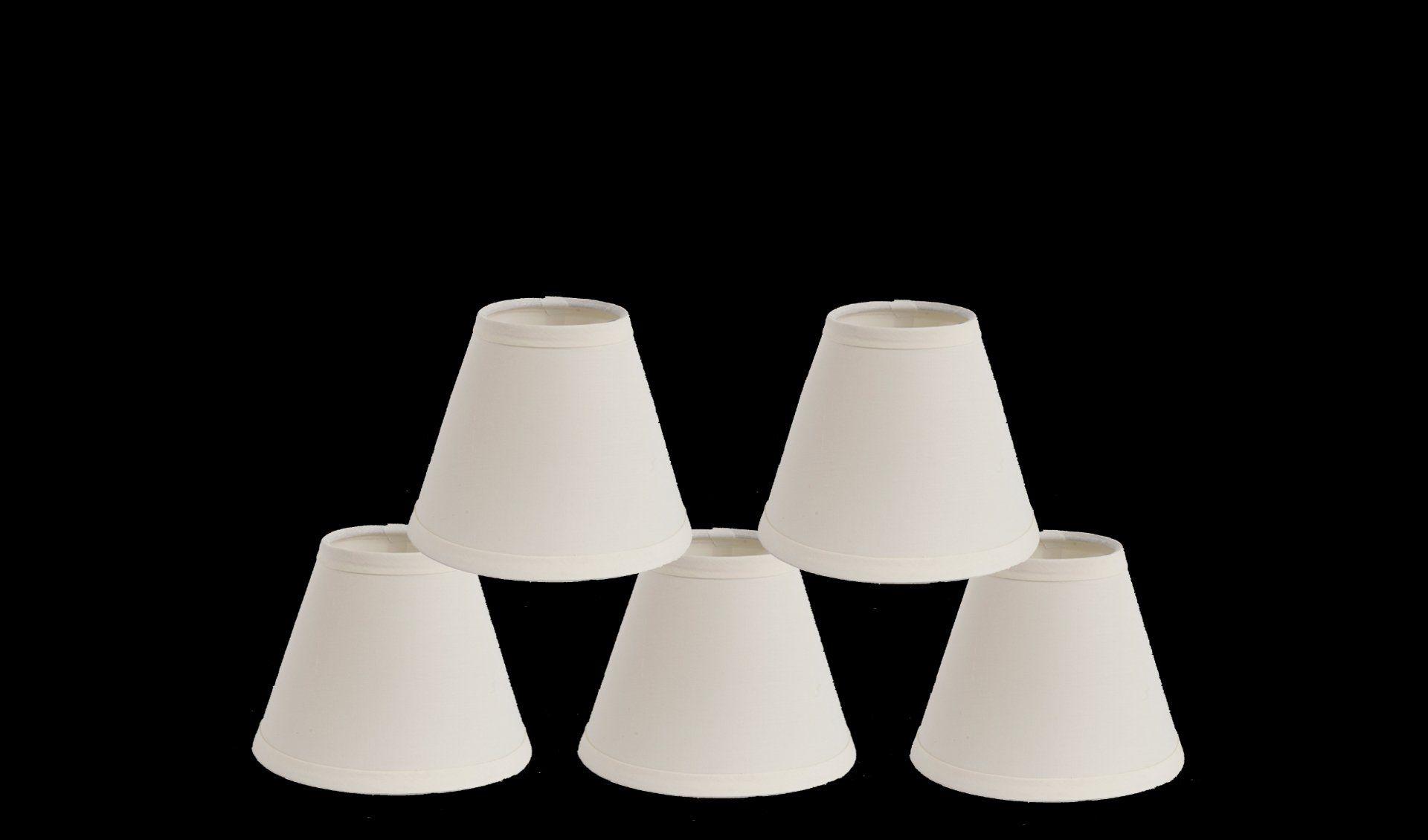 Mini lamp shades - Urbanest 1100327b Mini Chandelier Lamp Shades 6 Inch Cotton Hardback Clip On