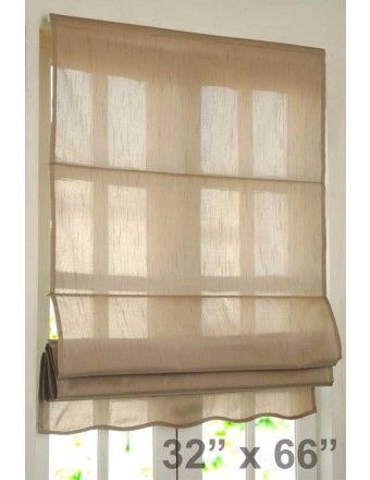 Decowindow Blinds Roman Blind Bangalore Silk 32 Quot Black