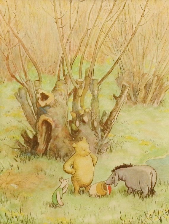 Classic Winnie the Pooh Nursery Print (Girls Decor, Boys Room Wall ...
