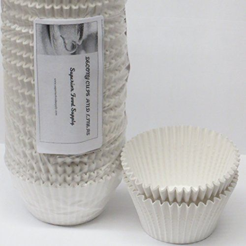Decony White Jumbo Cupcake muffin Liners 6'' - appx. 500 pack