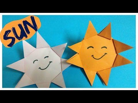 Origami Sun Origami Sun For Kids Origami Sky Youtube