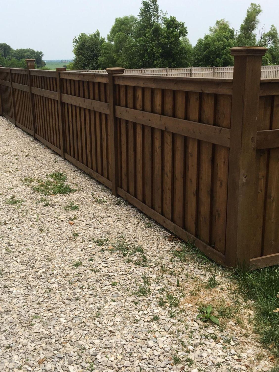 This beautiful cedar shadow box fence was built by Heldt ...