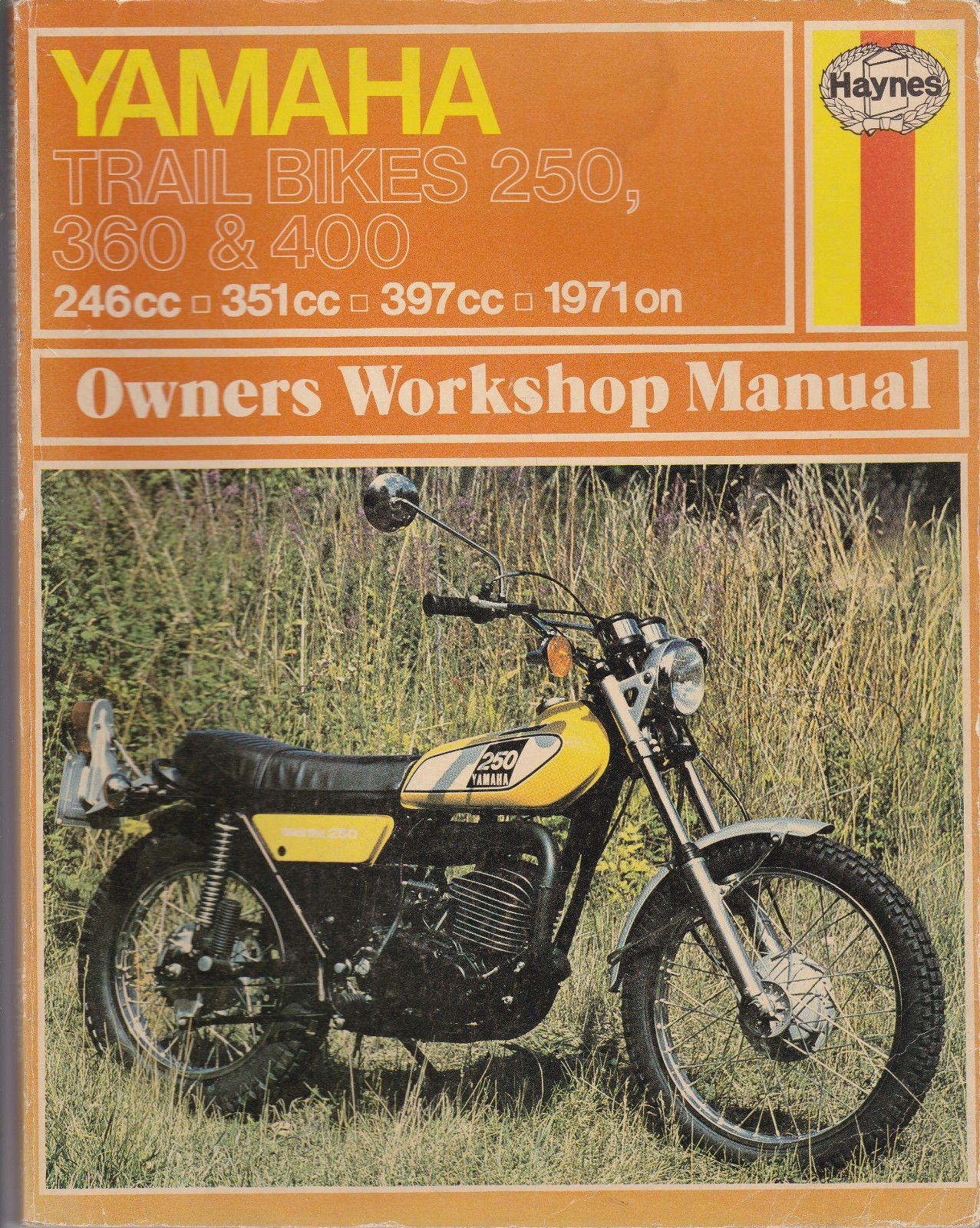Yamaha Trial Bike 250 360 400 Used Haynes Workshop Manual 1971 on Ref 263 |  eBay