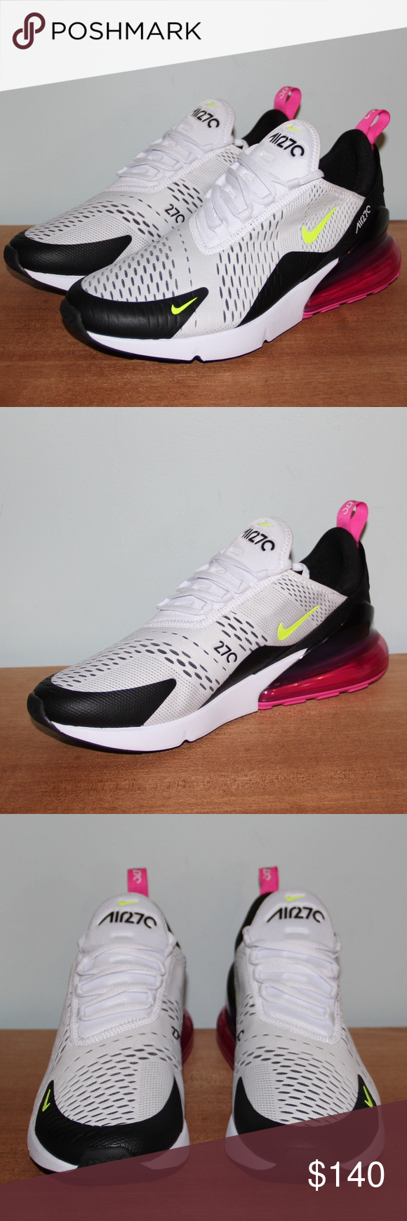 NEW Nike Air Max 270 Volt Fuschia Men's 10.5 New without box
