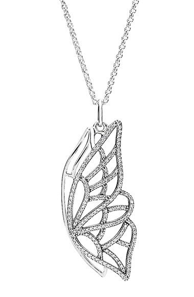 6ae231019 PANDORA 'New Beginning' Butterfly Pendant Necklace available at #Nordstrom