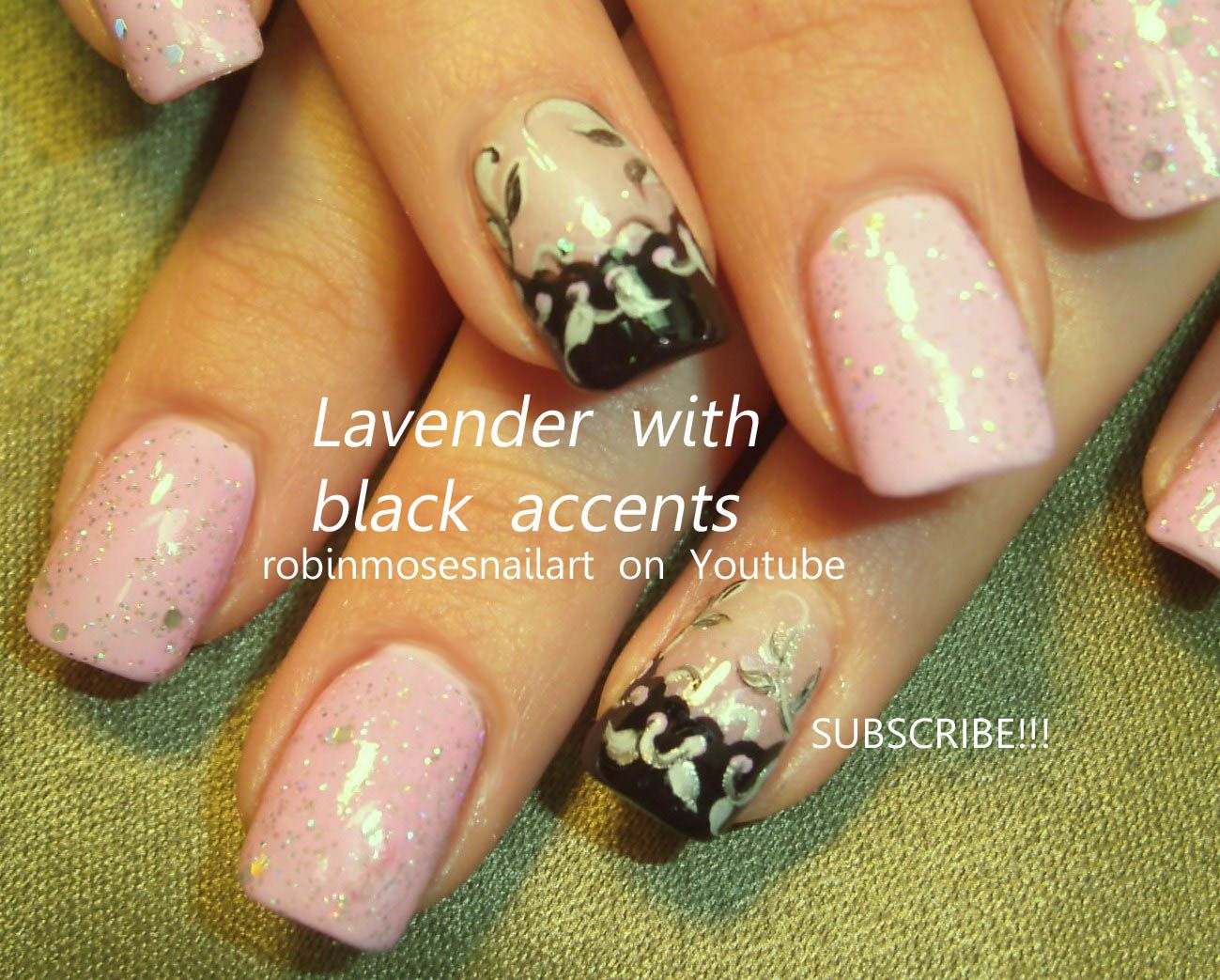 Nail Art By Robin Moses Lavender Black Http Www You Watch V T5wl 0rqurm