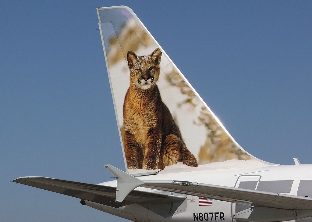 Frontier Airlines Airbus A318-111 N807FR 'Charlie the Cougar'